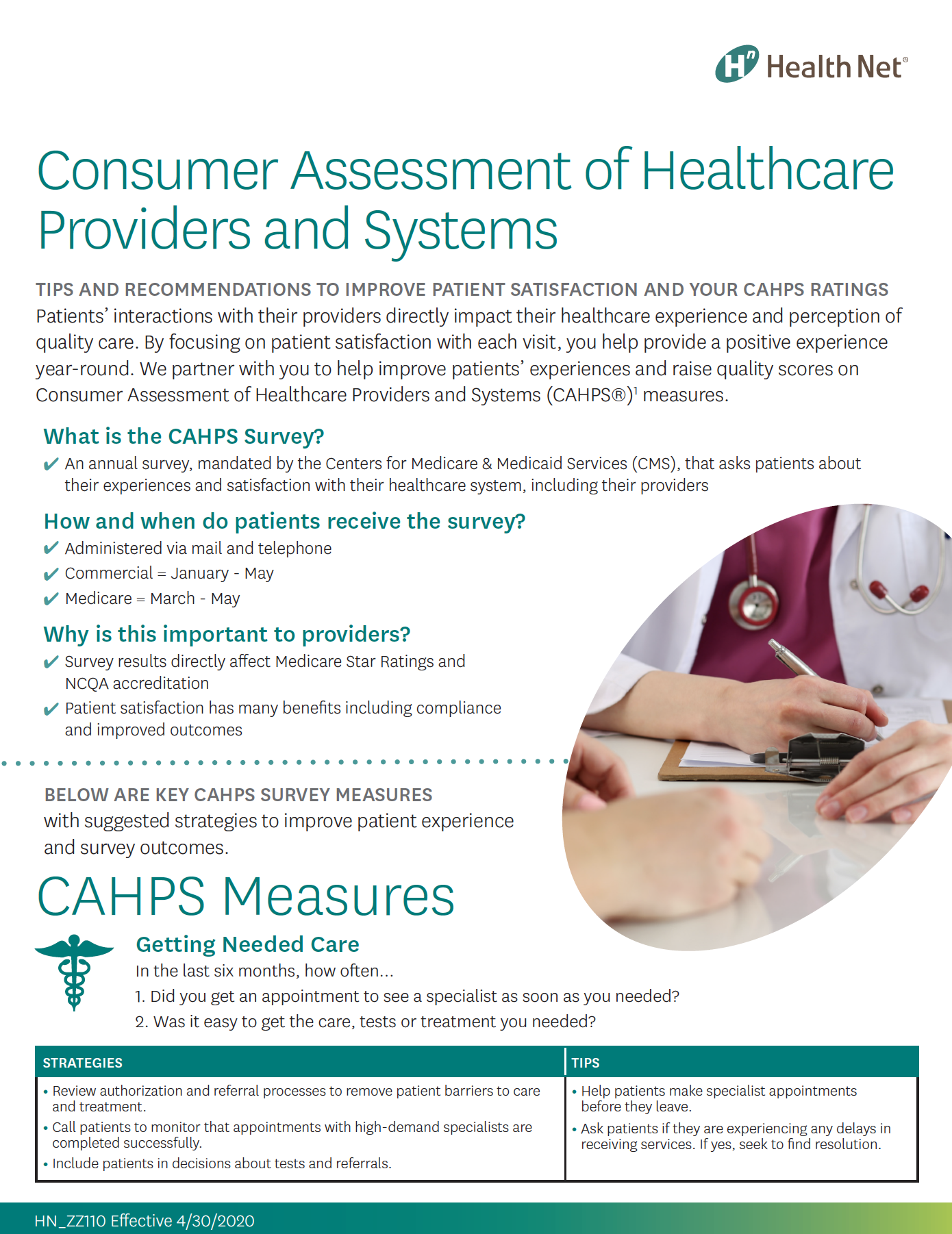 Download the CAHPS tip sheet (PDF)